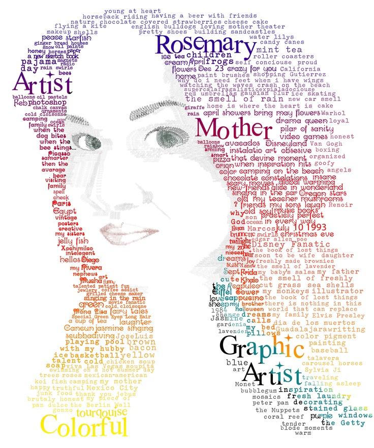 Self Portrait - typeography  ©Rosemary Gtz