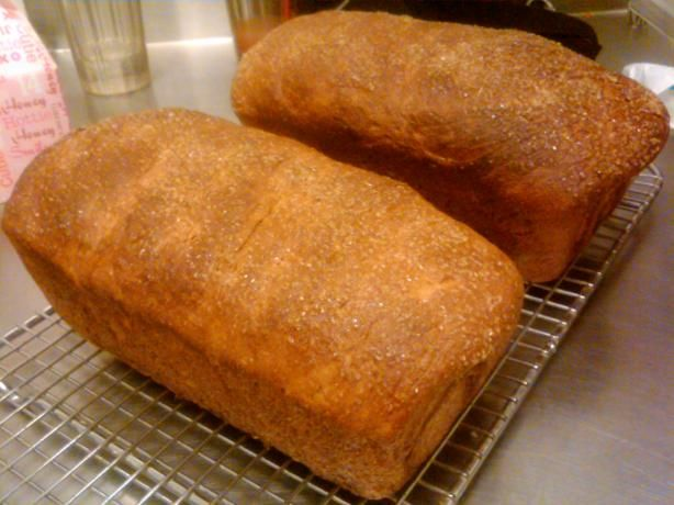 Amish Soft Honey Whole Wheat Bread~ I've cut the recipe down to 2loafs, didnt use gluten,sub crisco with butter and used 3tbs brown sugar instead of honey and white sugar.. after all that changes it still came out nice and soft!