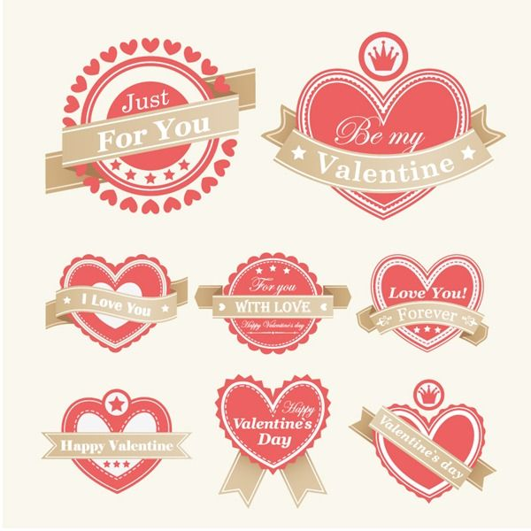valentine's day label template free