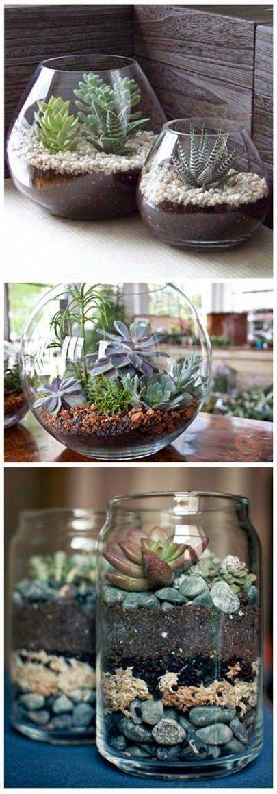 Vergeet jij altijd je bloemetjes water te geven? Dan zijn deze kleine terrariums een enorme uitko...