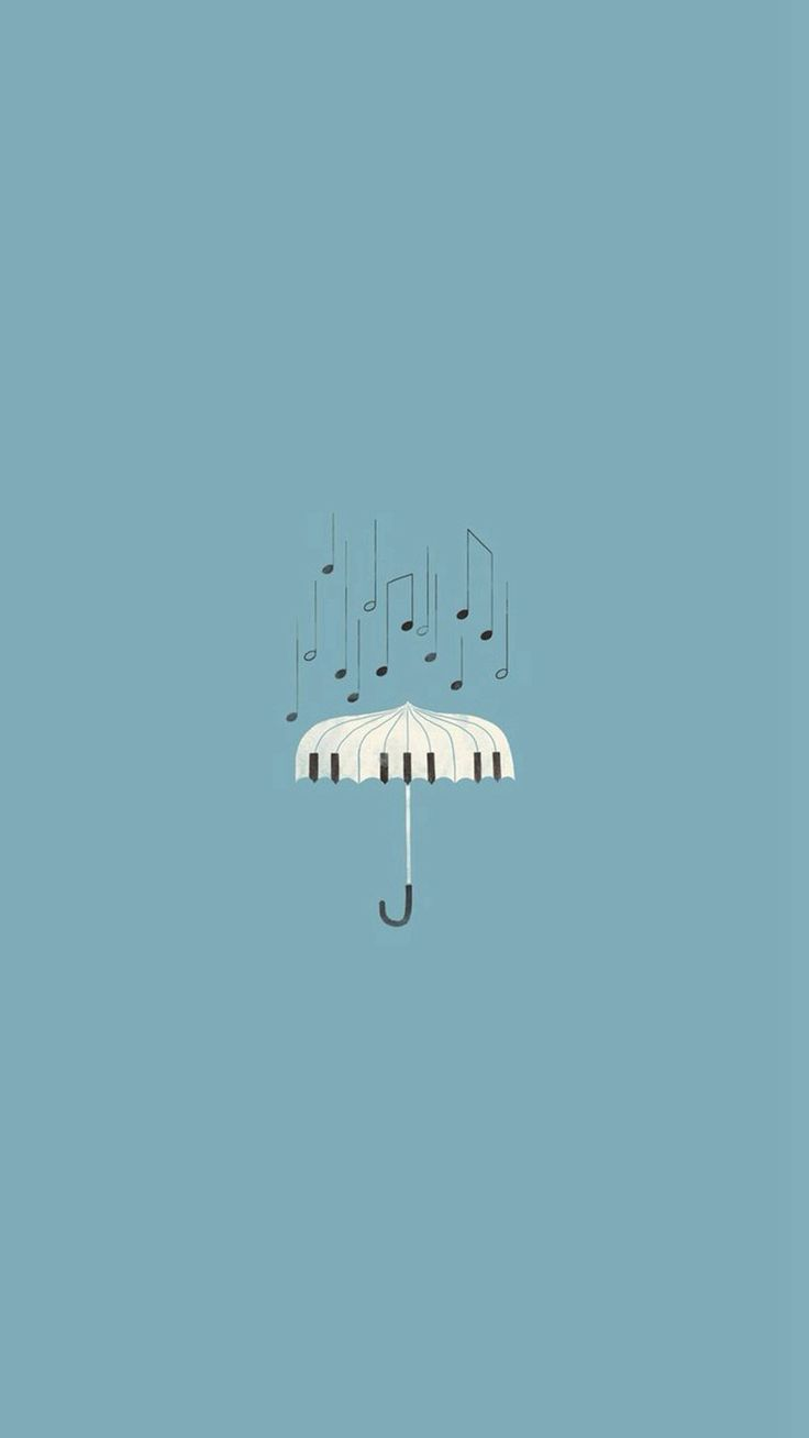 Piano Umbrella Illustration Iphone 8 Wallpaper Umbrella