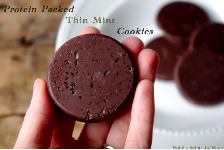 Raw Protein Packed Thin Mint Cookies (can be vegan & gluten free!)