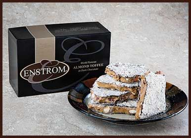 Enstoms Dark Chocolate Almond Toffee yummy....Makes a great gift :)