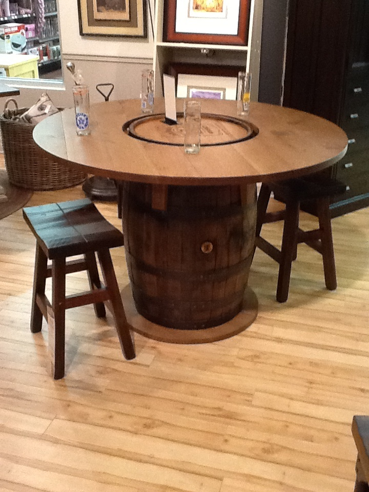 Jack Daniels Whiskey Barrel Bar Solid Maple Wood Stools