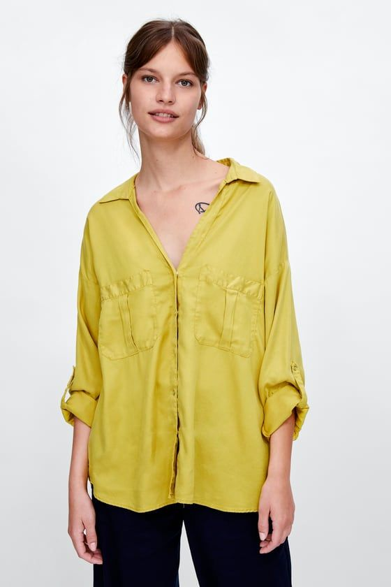 cfe5845900e33 FLOWY SHIRT WITH POCKETS - Item available in more colors Zara