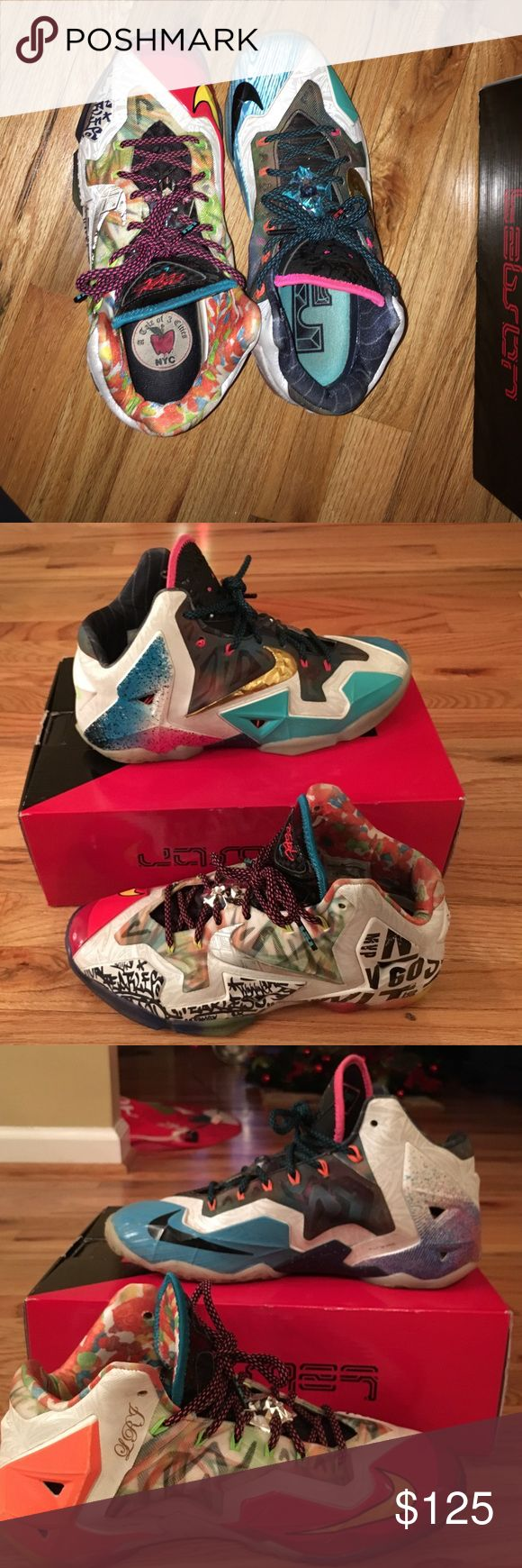 What The Lebron 11 Barely worn What The Lebron 11's, still in good condition. Size 9.5 still with original. Nike Shoes Athletic Shoes
