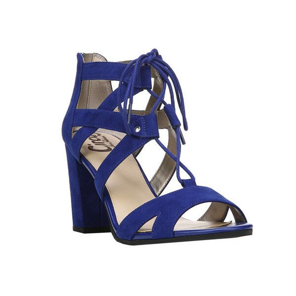 Women's Circus by Sam Edelman Emilia Strappy Sandal ($80) ❤ liked on Polyvore featuring shoes, sandals, casual, high heels, strappy sandals, thick heel sandals, lace-up sandals, strappy high heel sandals and lace up block heel sandals