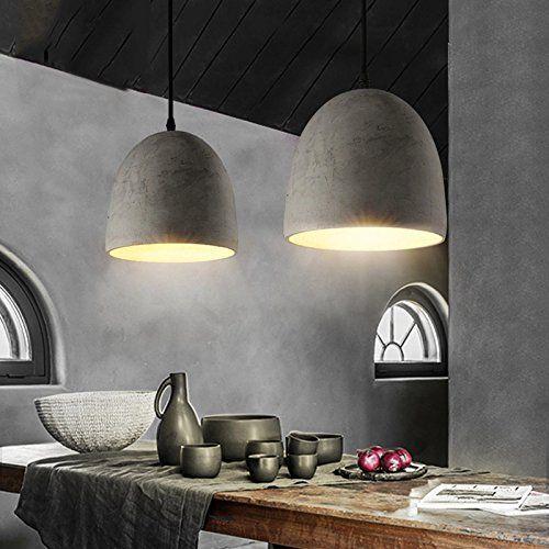 Continental creativo Ristorante Bar camera da letto lampadario soggiorno Lampada da soffitto in cemento: Amazon.it: Casa e cucina