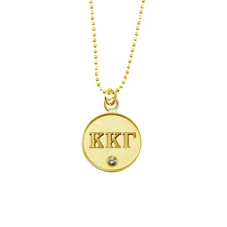 Kappa Kappa Gamma Lavalier Necklace $20 on www.navikagirl.com/kappa-kappa-gamma - Beautiful gold plated Kappa Kappa Gamma necklace featuring a single clear Swarovski Crystal. This Kappa Kappa Gamma necklace is perfect for recruitment, philanthropy events, and new member gifts! Gold or Silver - Navika Girl - Sorority Jewelry, Greek Shirts, Equestrian Jewelry  #kkg #kappakappagamma #sistersforever #sisterhood #kappas #greek #sorority #fleurdelis #owls #keys #navikagirl