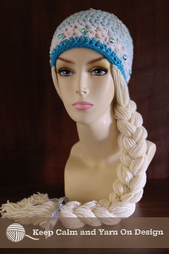 Crochet Elsa Hair Hat : ... Elsa Crochet, Crochet Hats, Frozen Inspiration, Queens Elsa, Elsa Hat
