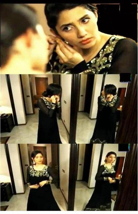 khirads black dress from humsafar. pakistani fashion.