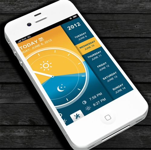 Mobile Apps Design with UI/UX-36 - daylight app (might be useful for photography)