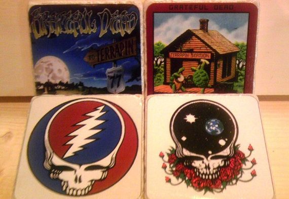 Grateful Dead Album Cover Coasters by Coasted on Etsy, $20.00