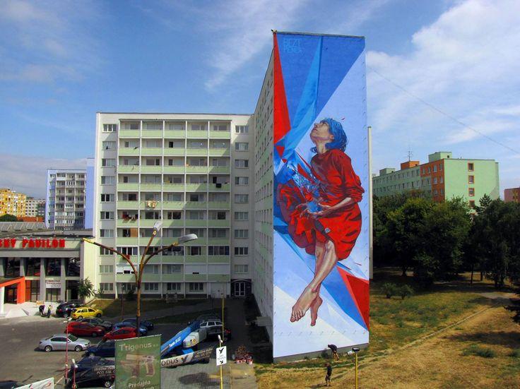 Artists : Bezt and Pener. Place : Kosice, Slovakia. #streeart, #graffiti, #urban.