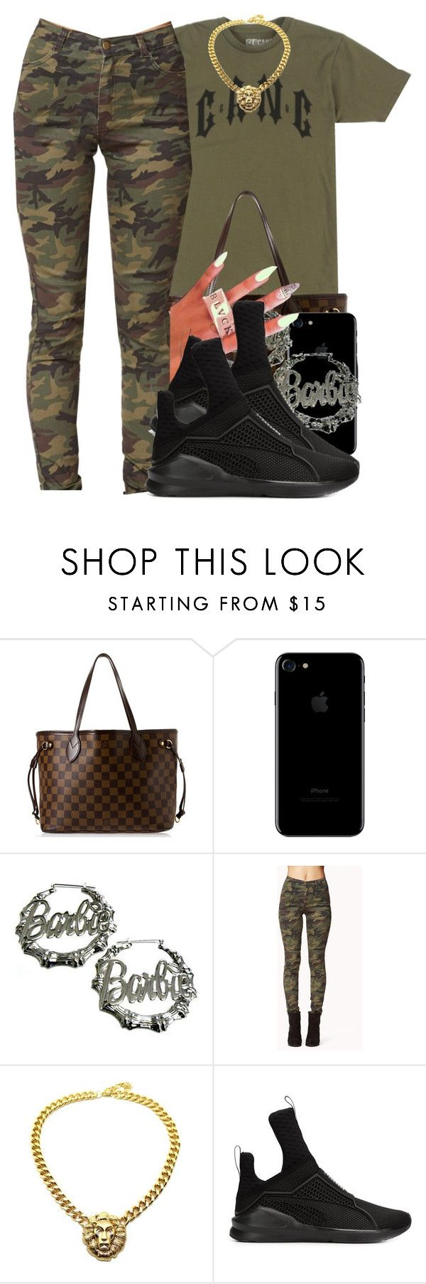 """G A N G"" by polyvoreitems5 ❤ liked on Polyvore featuring Louis Vuitton, Nicki Minaj, Forever 21 and Puma"