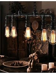 Vintage Metal Water Pipe 5-light Pendant Light – CAD $ 194.59