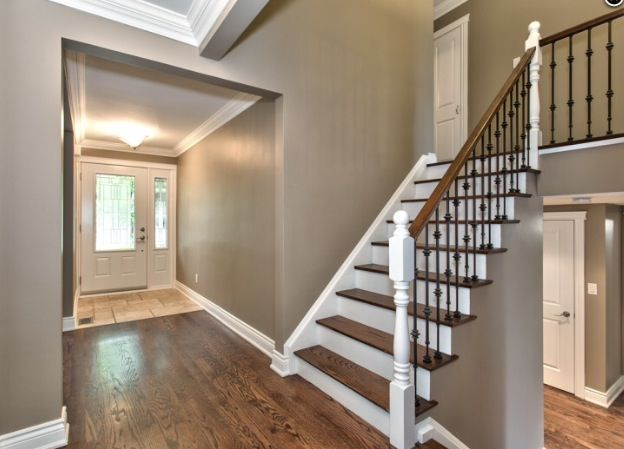 Getting Rid Of Two Story Foyer : Best images about staircase reno on pinterest carpets