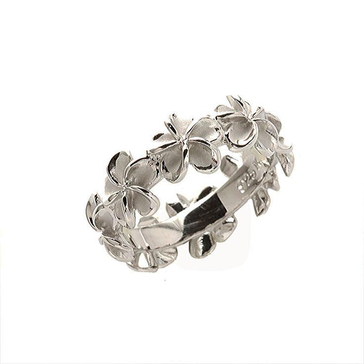 hawaiian wedding rings   ... silver Hawaiian Jewelry - Hawaiian Heirloom Rings - *Island Flower