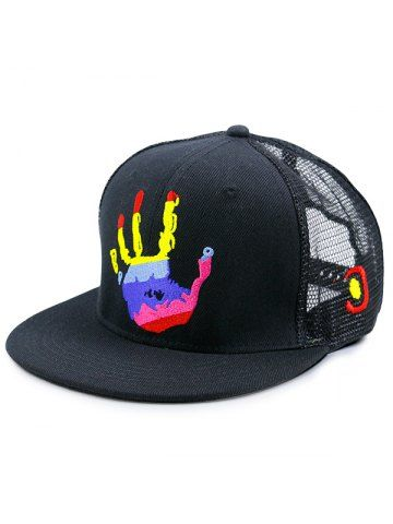 45529691f06 Mesh Splicing Multicolor Palm Printed Baseball Hat  Mesh  Accessories  Hat   Men