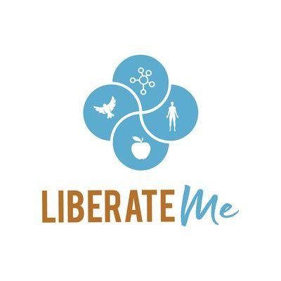 Branding Project for Liberate Me - Papamoa, Tauranga New Zealand. www.liberateme.co.nz  Case In Point Design Studio | Graphic Design & Illustration Tauranga. Logo design, modern, gold and blue, symbols, icon design, modern, health and wellness, apple, figure, silhouette, clean, designer.