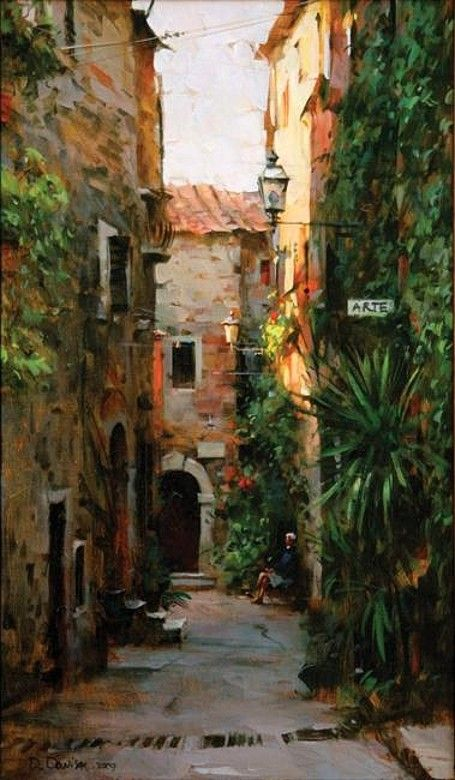 #Art #Buildings - dimitri danish - love the colours used here.. http://www.ablankcanvas.net