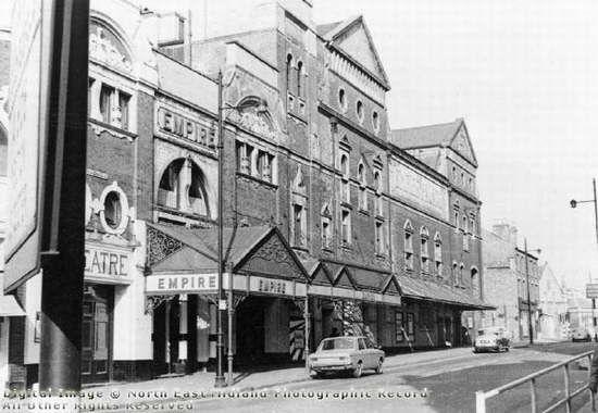 Empire Theatre, Theatre Square, South Sherwood Street, Nottingham, 1968. Photo credit: Bernard Beilby.