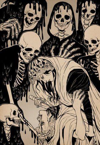 .: Skull, The Artists, Comics Book, Bones, Death, Illustration, Dinner Parties, The Killers, The Dark