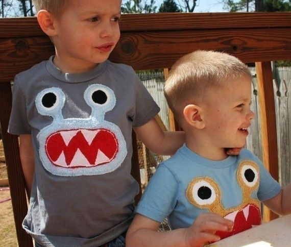 Party wardrobe - monster t-shirts.  Can make these and attached to kids with tape (or make tshirts)