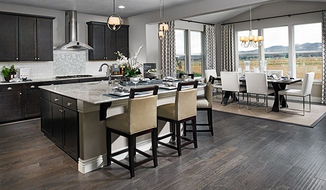 118 best images about dream kitchens we love on pinterest for Dark cabinets light granite