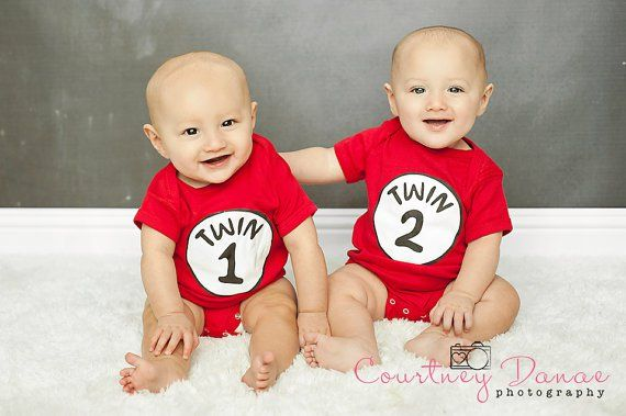 Pin for Later: 27 Adorable Onesies That Will Make Your Twins Instagram Famous Twin 1 and Twin 2 Twin 1 and Twin 2 Onesie Set ($32)