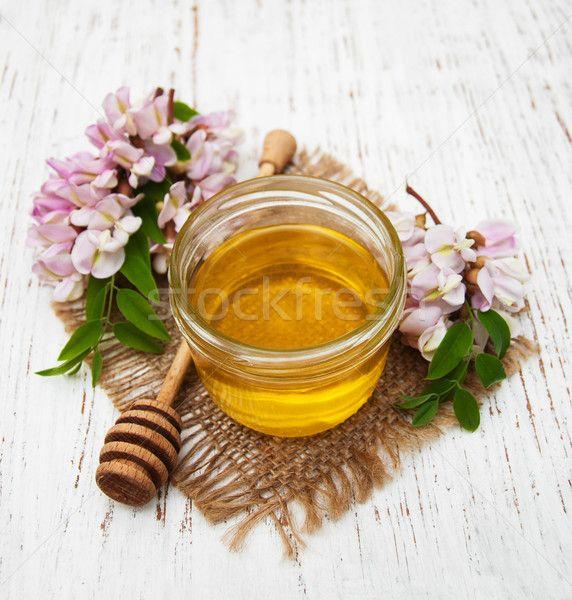 honey with acacia blossoms stock photo (c) almaje (#6274767) | Stockfresh