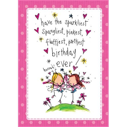 Funny Birthday Wishes Pink: Sparkle, Spangle!