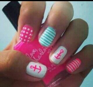 Sailor Nails... Perfect for a Cruise