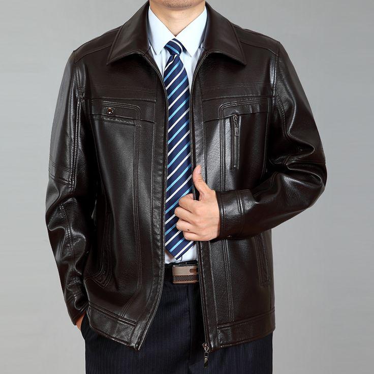 Estilo europeo da vuelta-abajo ropa de cuero de piel de oveja chaqueta de Cuero masculina ropa de abrigo chaqueta veste en vetements cuir(China (Mainland))
