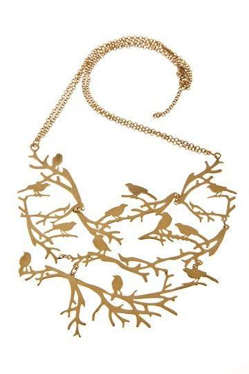 SKOG - halsband med kort kedja och många kvistar - halsband - SMYCKEN