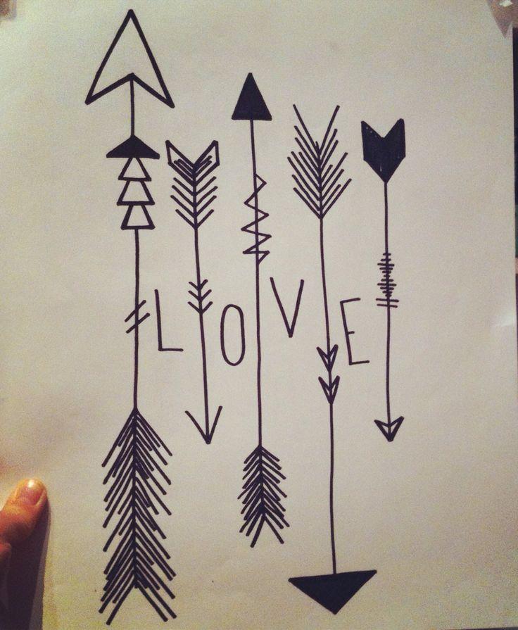 Maskingtape - arrow - love - wall - decoration