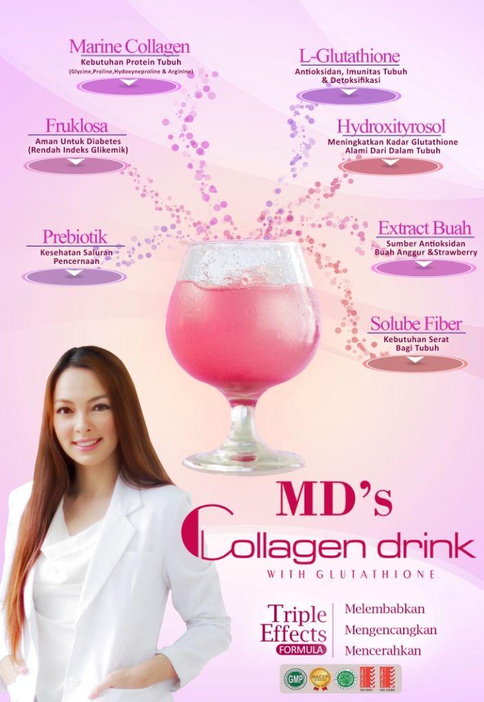 Rahasia kecantikan kulit alami MD'S Collagen, secara efektif meningkatkan kadar kolagen dalam kulit yang bisa mencerahkan kulit, menghilangkan kerutan pada kulit, Membantu meningkatkan kelembaban kulit di lapisan epidermis.  Info selengkapnya seputar M'DS Collagen rahasia kecantikan Dr.Reisa Kartikasari (Runner up Putri Indonesia 2010) klik tautan berikut http://www.fastworld.co.id/suplemen-kesehatan/mds-collagen-drink-suplemen-kesehatan.html?ref=83 atau hubungi 082110643415