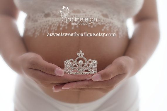 Maternity Photo Prop Baby Girl Maternity by ASweetSweetBoutique