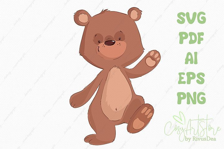 Cute Teddy Bear Svg Png Vector Clipart 370349 Svgs Design Bundles Teddy Bear Cute Teddy Bears Cute Baby Animals