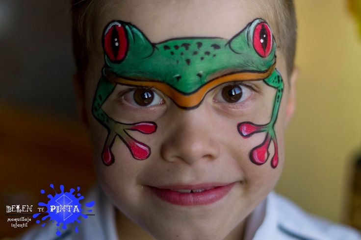frog facepainting