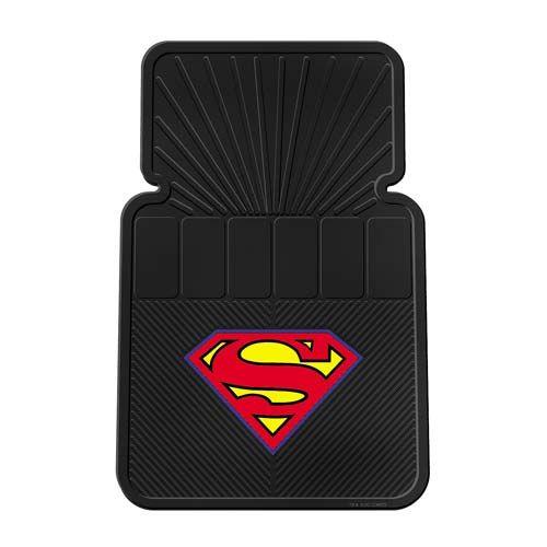 Superman Logo Rubber Floor Mat 2 Pack Comics Amp Toys