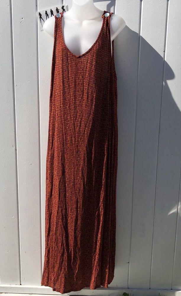 Uniform Woman John Paul Richard Plus Sized 100% Rayon Brown Maxi Dress Size 3X #JohnPaulRichard #MaxiDress #Casual