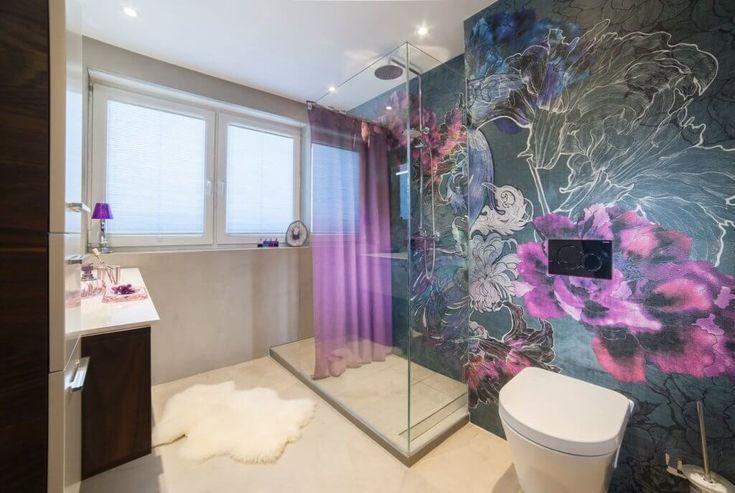 die besten 25 badezimmer tapete ideen auf pinterest portr t wand navy farbe und badezimmer wand. Black Bedroom Furniture Sets. Home Design Ideas