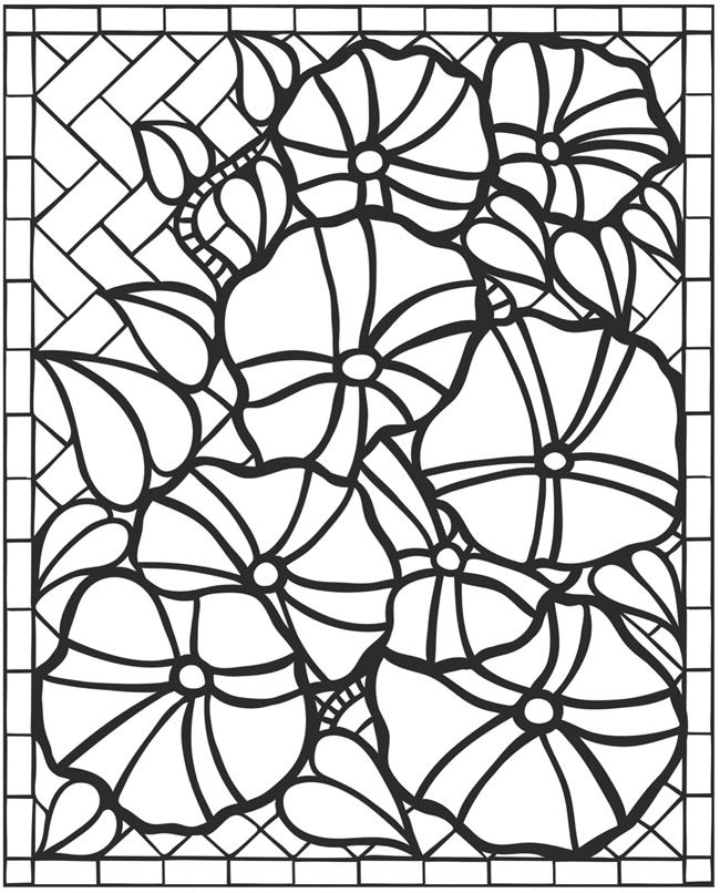 flower mosaic coloring best images about paper dolls movies on - Mosaic Coloring Book