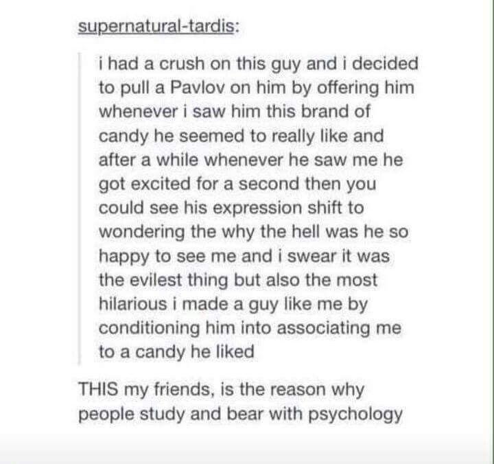 Psychology: Pavlov conditioning