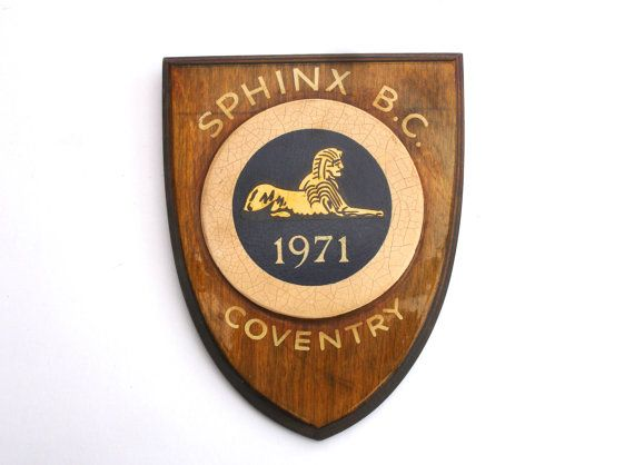 1970s Vintage Sphinx BC Coventry Plaque Sphinx Bowling Club Vintage Sports Plaque Sporting Trophy by FillyGumbo