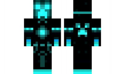 Minecraft skin tron creeper hd v2 minecraft skins - Cool girl skins for minecraft pe ...