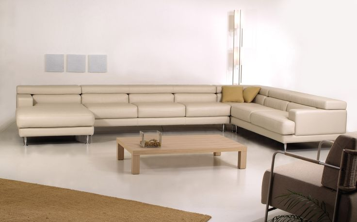 Unos sectional.  Large modern sectional designed to provide plenty of seating.  Available in your choice of leather or fabric. Products available through Selene. www.selenefurniture.com