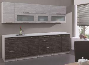 Modern szürke konyhabútor látványterve