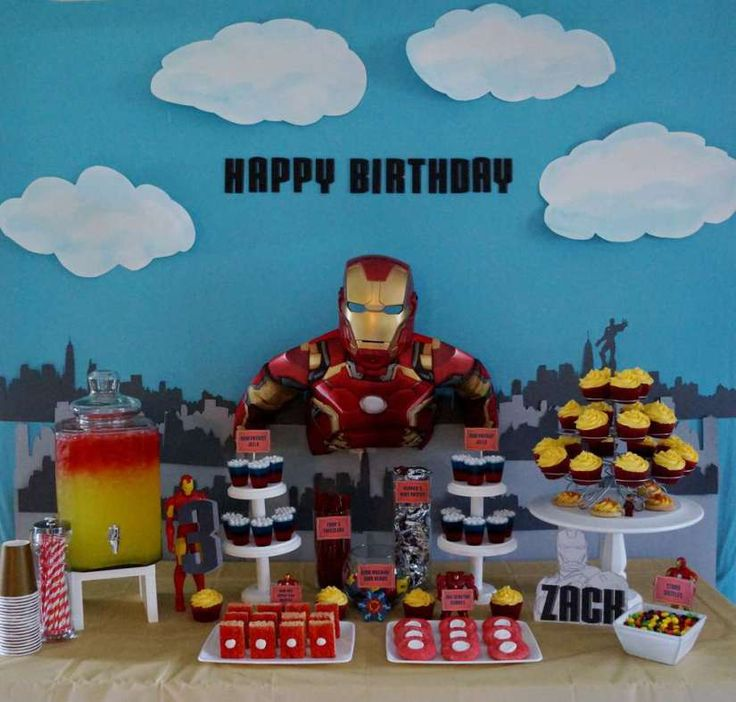 ironman-birthday-party-dessert-table